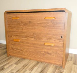 2 Drawer Lateral Wood File Cabinet. Delivered. for Sale in Tacoma, WA