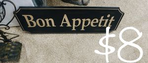 Kitchen home chef Bon appetit sign for Sale in NEW PRT RCHY, FL