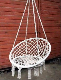 """New in box 32"""" wide x 47"""" inches tall Hammock Chair Macrame Swing Boho Style Cotton Rope Chair Indoor Outdoor 260 lbs Capacity Without Pillow for Sale in Covina, CA"""