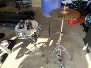 Snare and Cymball with stands for Sale in Las Vegas, NV