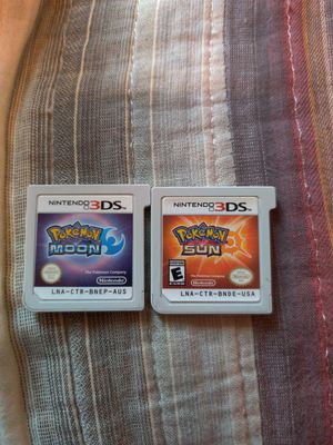Pokemon moon and pokemon sun 3ds game work on 2ds for Sale in Los Angeles, CA