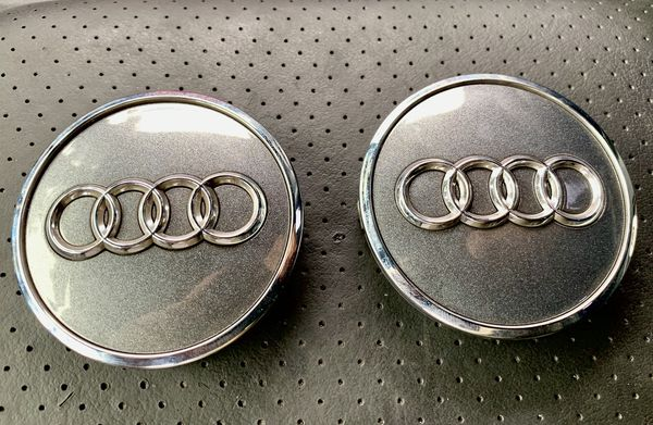 Audi Oem Wheel Center Caps (2) pair