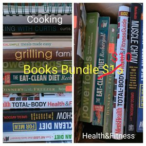 Cookbooks health and fitness books bundle for Sale in Oceanside, CA