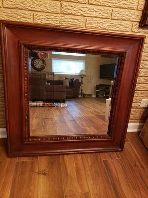 Wood frame mirror for Sale in Schaumburg, IL