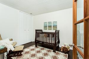 Beautiful like-new Espresso Baby Cache Crib and Rocking Chair! for Sale in Los Angeles, CA