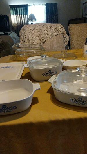 9 pcs Corningware set with lids for Sale in Riverside, CA