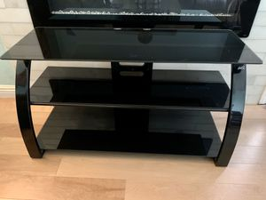 Glass TV stand, like new for Sale in Redwood City, CA