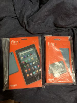 Amazon Fire 7 Tablet & Case for Sale in Tempe, AZ