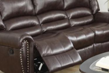 Electric Reclining Sofa. Available In Brown for Sale in Miami,  FL