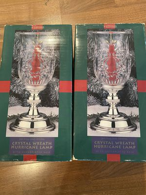 Set of 2 Crystal Wreath Lamps / candle holders for Sale in Katy, TX