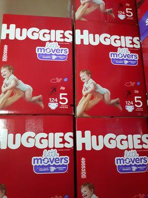 HUGGIES LITTLE MOVERS SIZE 5 $33 CADA UNO PRECIO FIRME for Sale in Santa Ana, CA