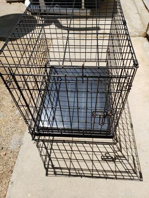 Foldable pet kennel wire cage with tray for Sale in Poway, CA
