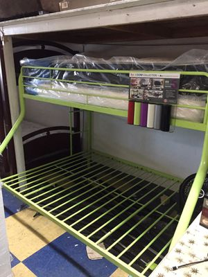 Twin full bunk bed no mattress any colors new for Sale in Bellflower, CA