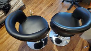 Pacific Coast Lighting Black and Chrome Bar Stool/Barber Chair for Sale in Windsor Hills, CA