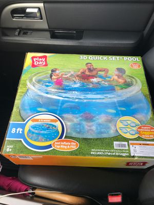 Play day 3D Quick Set Pool for Sale in Stafford, TX