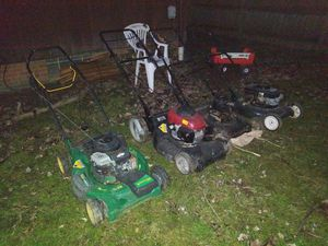 4 lawnmowers sold as is. for Sale in Cleveland, OH