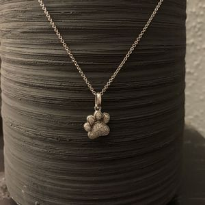 925 Sterling Silver/ Diamond Paw Print Necklace for Sale in Westlake, OH