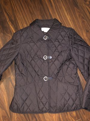Michael Kors brown lightweight quilted clip closure jacket. Size M for Sale in Hillsboro, OR