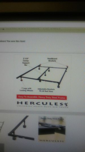 Hercules Universal Heavy Duty Metal Bed Frame/ All Sizes for Sale in Memphis, TN