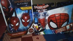 Spiderman walkie talkies and into the spider verse for Sale in Everett, WA
