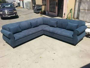 NEW 9X9FT ANNAPOLIS STEEL BLUE FABRIC SECTIONAL COUCHES for Sale in Las Vegas, NV