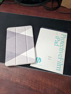 iPad mini 5 case with two screen protectors for Sale in Austin, TX