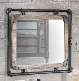 "Furniture of America Stockholm Industrial Decorative Wall Mirror 32""x24"" for Sale in Houston, TX"