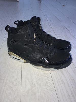 Jordan True Flights (Size 13) Black and Gold for Sale in Mystic Islands, NJ