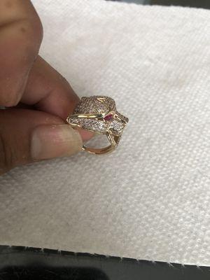10k jag head ring cz stones for Sale in Davenport, FL