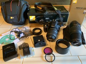 Nikon D5200 with 2-lenses and accessories for Sale in Orange, CA