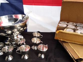 Silver Punch Bowel And Cups for Sale in San Angelo,  TX