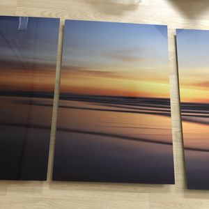 Metal sunset 3 frame photo new in plastic for Sale in Fort Lauderdale, FL