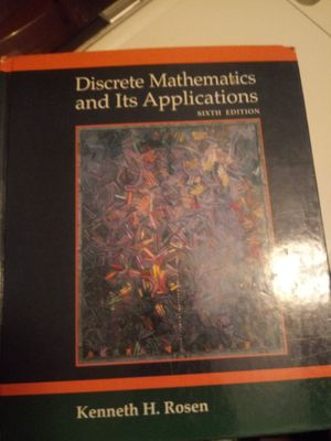 Discrete Mathematics and its application by Kenneth Rosen for Sale in Wheeling, IL