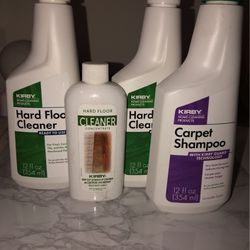 Kirby, Carpet Shampoo & Hard Wood Floor Cleaner, Bundle, 12oz All 3 for Sale in Dallas,  TX