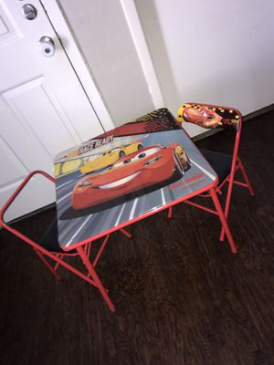 Cars toddler table with 2 chairs for Sale in Arlington, TX