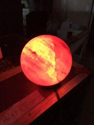 "Pink Himalayan Salt Crystal Globe Lamp (sizes and colors vary 5-7"") for Sale in Oakland Park, FL"