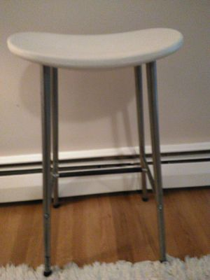 IKEA white tall bar kitchen stool chair aa-321913-1 220lb for Sale in Belmont, MA