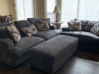 Down Feather Couch, Love Seat And Ottoman Set for Sale in Las Vegas,  NV