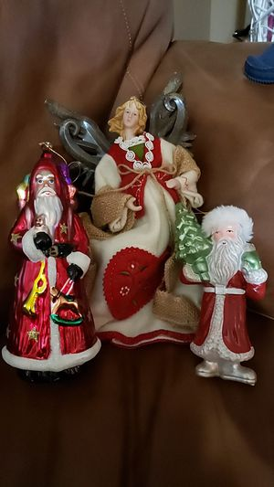 Christmas Santa Claus/Ornaments, Large for Sale in Bakersfield, CA