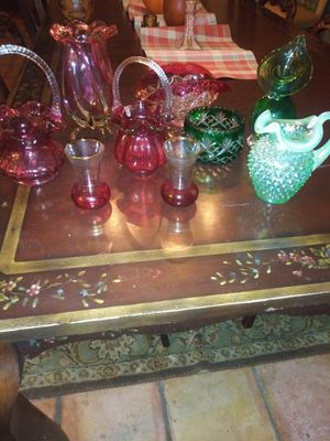 Beautiful lot of vintage Fenton glassware for Sale in Fort Worth, TX