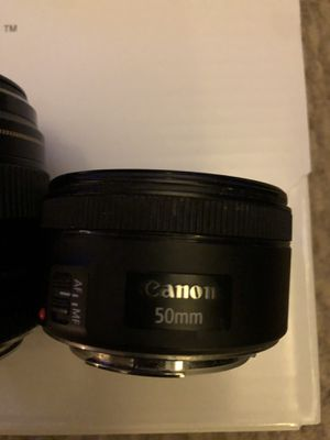 Canon 50mm 1.8 lens for Sale in Bowie, MD