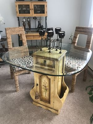 Top glass and little cute antique furniture for Sale in Upper Saint Clair, PA