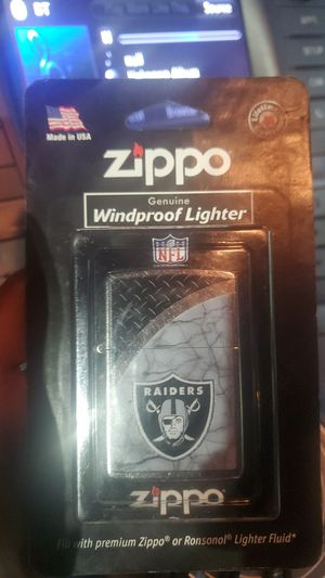 Raiders zippo lighter for Sale in Sacramento, CA