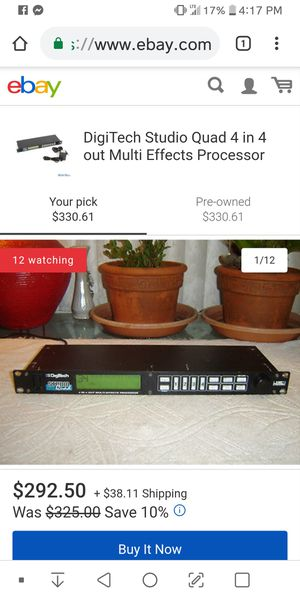 Digitech studio quad 4 in 4 multi affects possessor for Sale in Sebring, FL