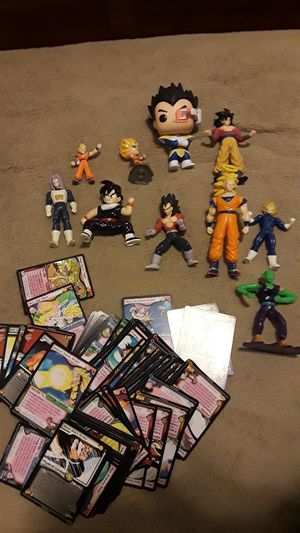 Dragon ball z figures and cards good condition for Sale in Tacoma, WA
