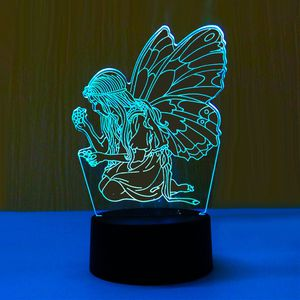 3D Illusion Night Light Fairy Picking Flowers 7 Color Change for Sale in Las Vegas, NV