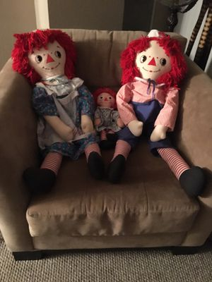 Antique Raggedy Ann and Andy Dolls for Sale in Los Angeles, CA