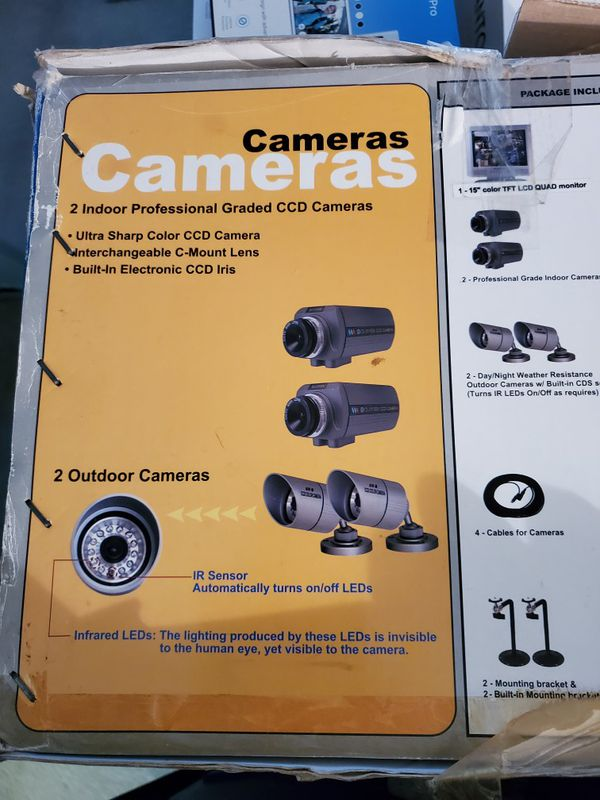 Camera System with LCD quad monitor and 4 cameras