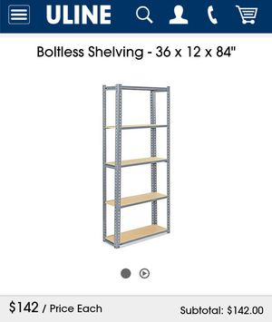 Metal shelving like new for Sale in Bell Gardens, CA