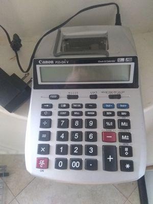 Canon Calculator P23-DH V Clock & Calendar Printing 12 Digit Calculator.. for Sale in Santa Maria, CA